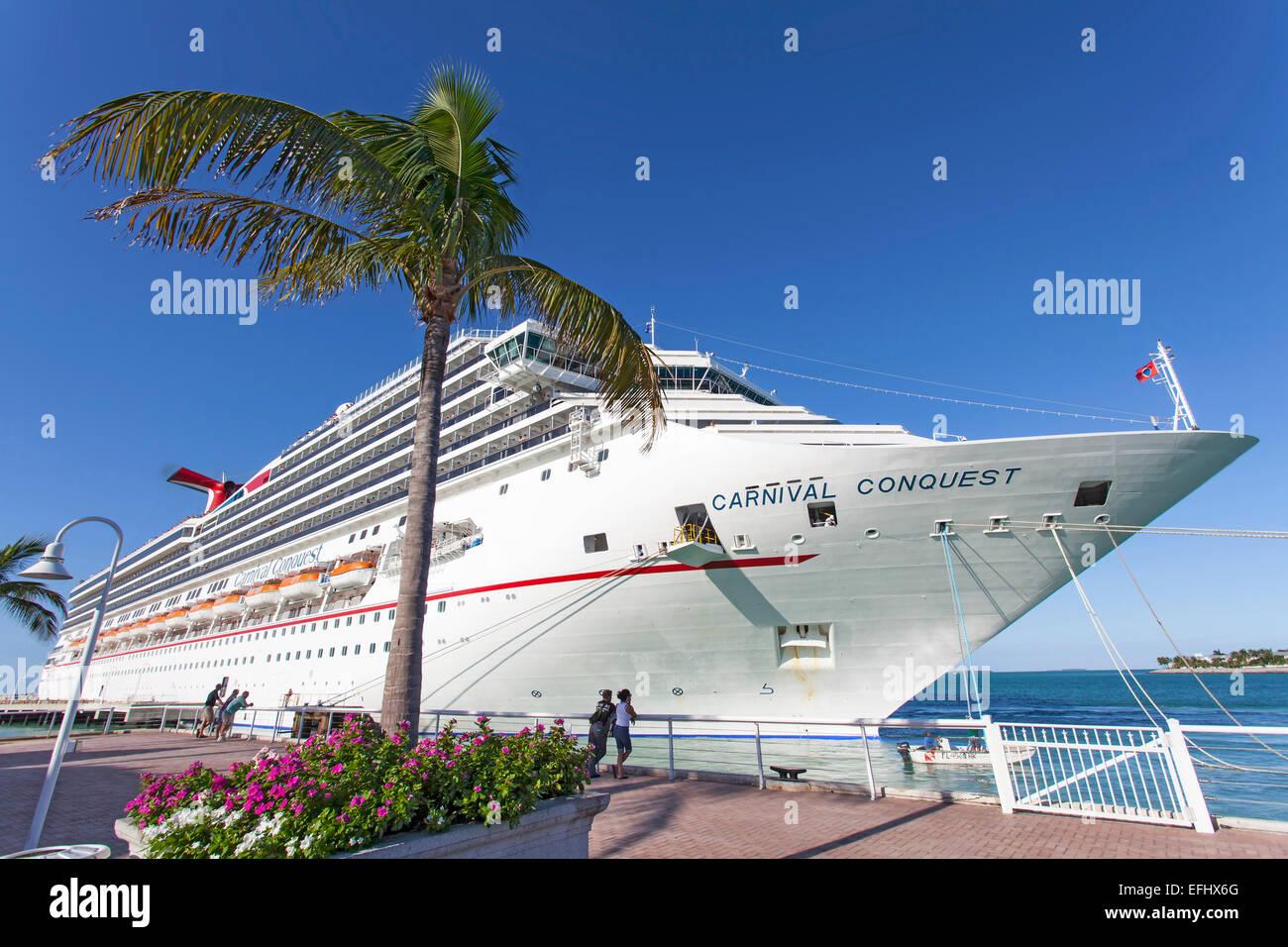 Luxury Cruise Ship Docked At The Port Of Key West Florida Keys - Cruise ship key west