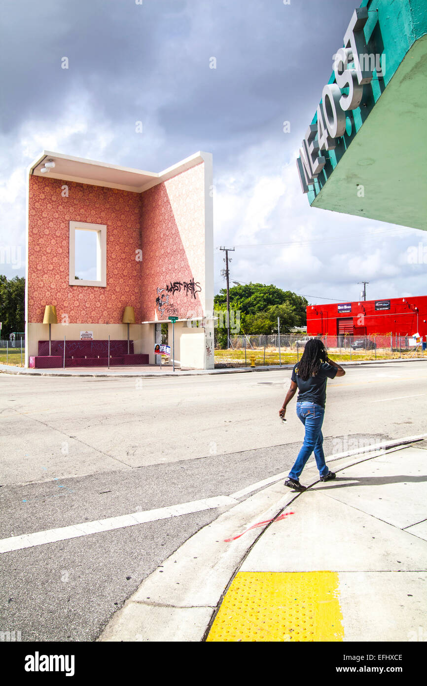 Living Room Art Monumental Installation At North Miami Avenue And 40th Street By Architect Artist Team Roberto Behar Ro