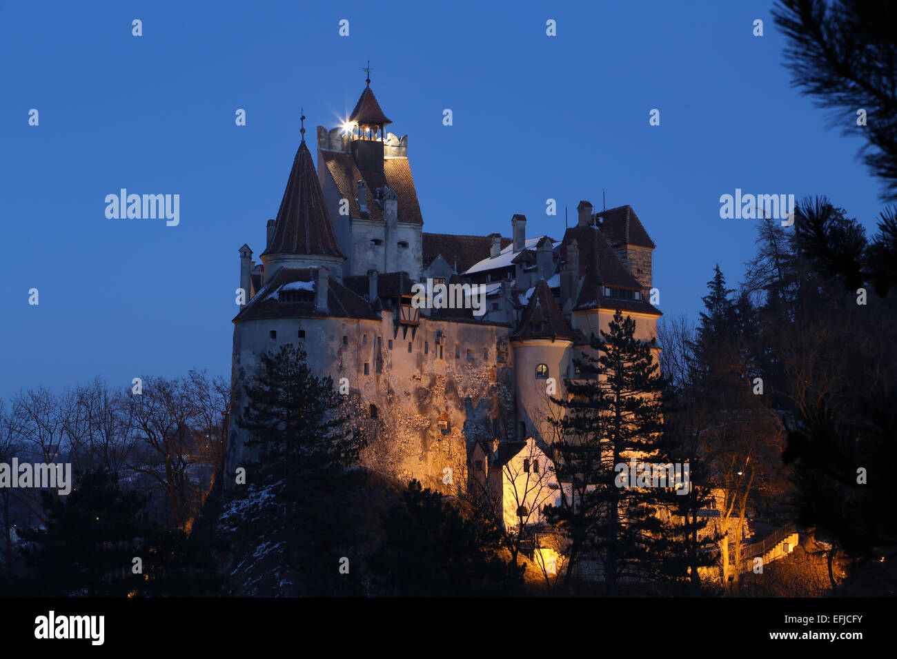 Bran Castle In Transylvania Romania Famous Residence Of
