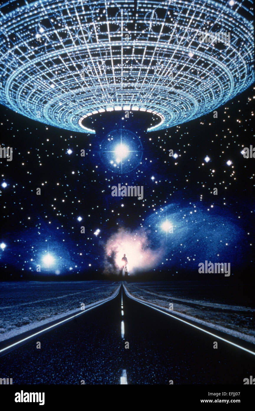 ufo scene close encounters of the third kind 1977 stock