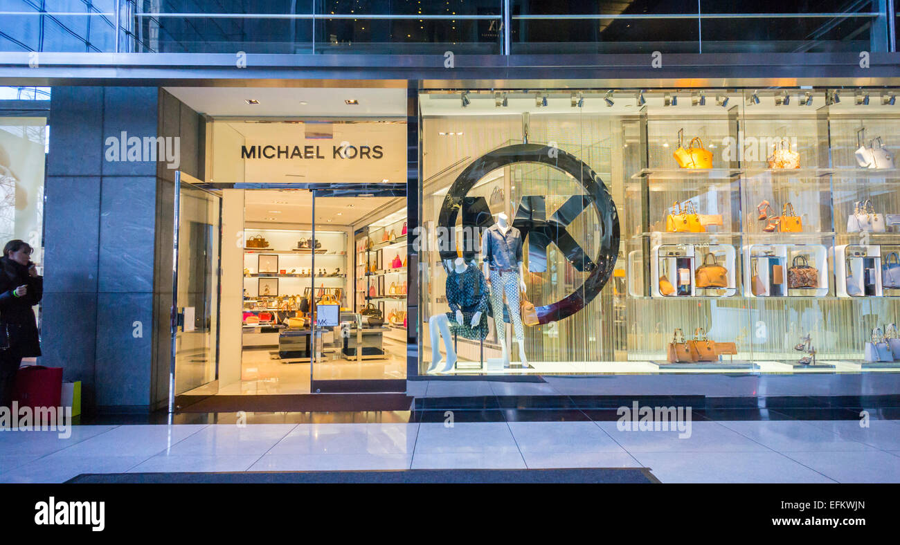 a michael kors store in the time warner center in new york on stock photo royalty free image. Black Bedroom Furniture Sets. Home Design Ideas