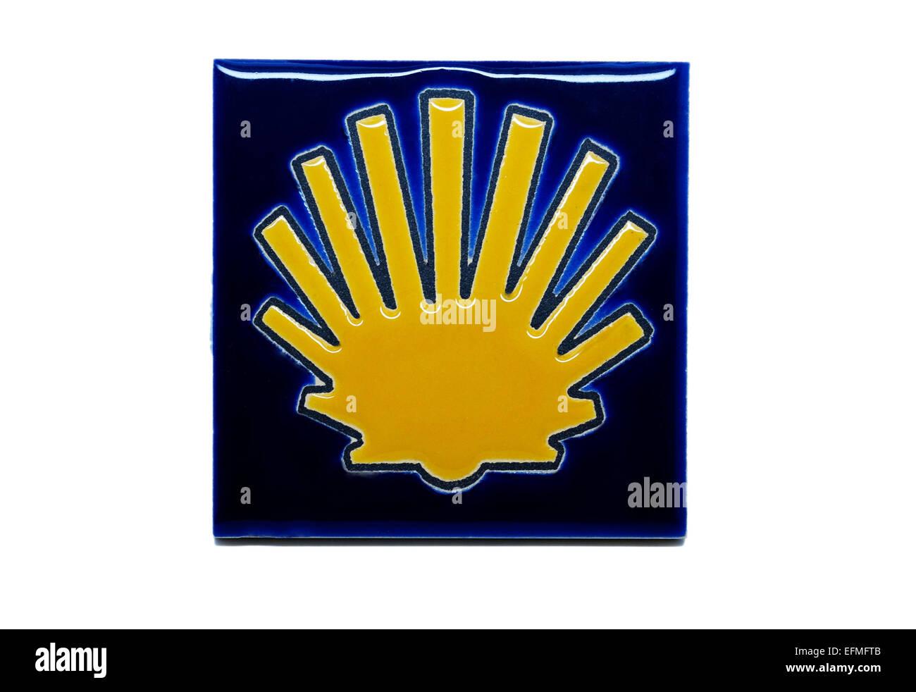 Shell Symbol Tile Of The Camino De Santiago De Compostella