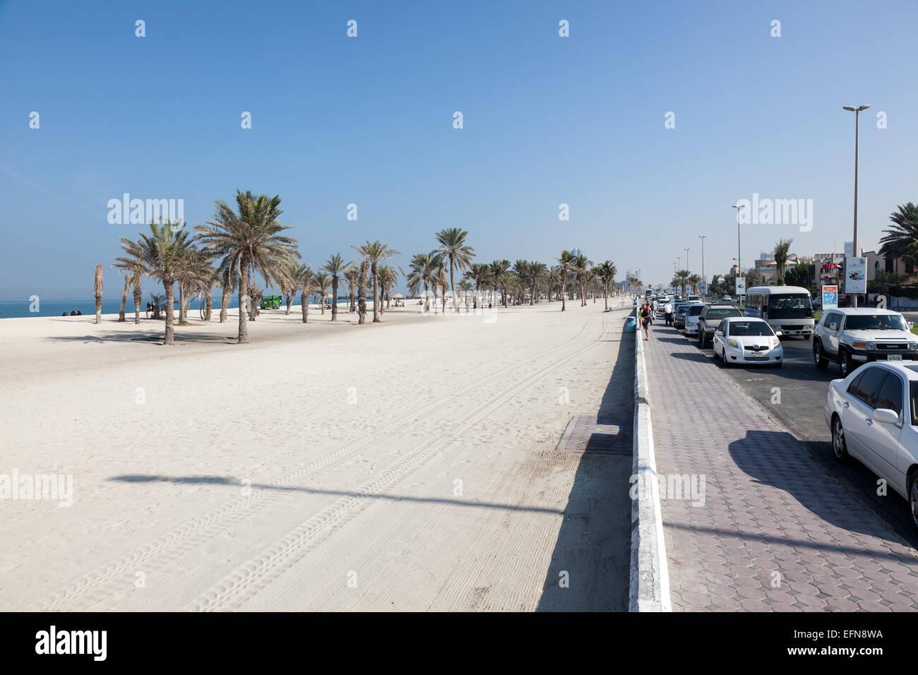 Fish aquarium in umm al quwain - Beach And Corniche In Umm Al Quwain Stock Image