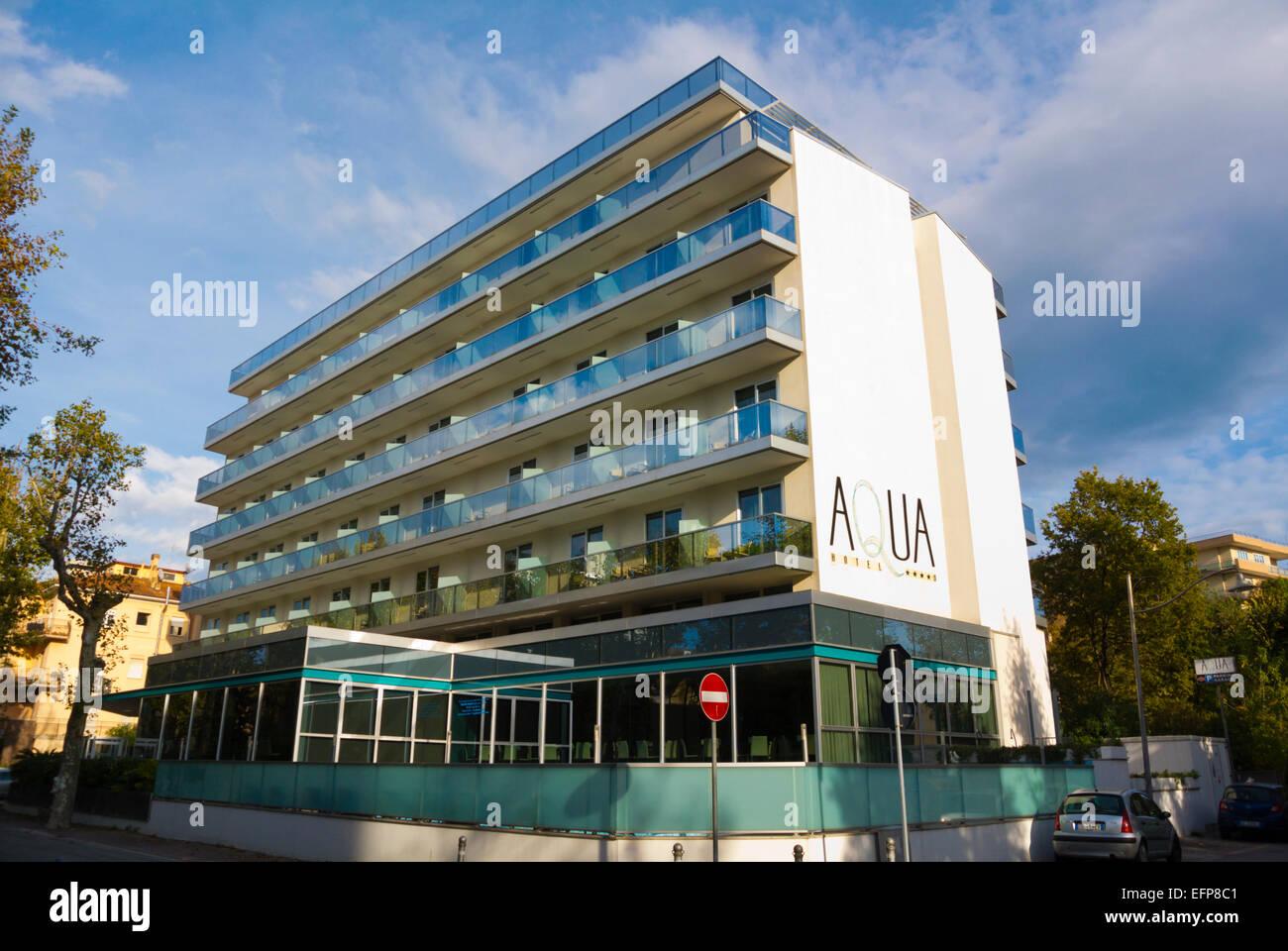 Aqua Hotel And Spa Near The Beach Rimini Italy Stock Photo Royalty Free Image 78550865 Alamy