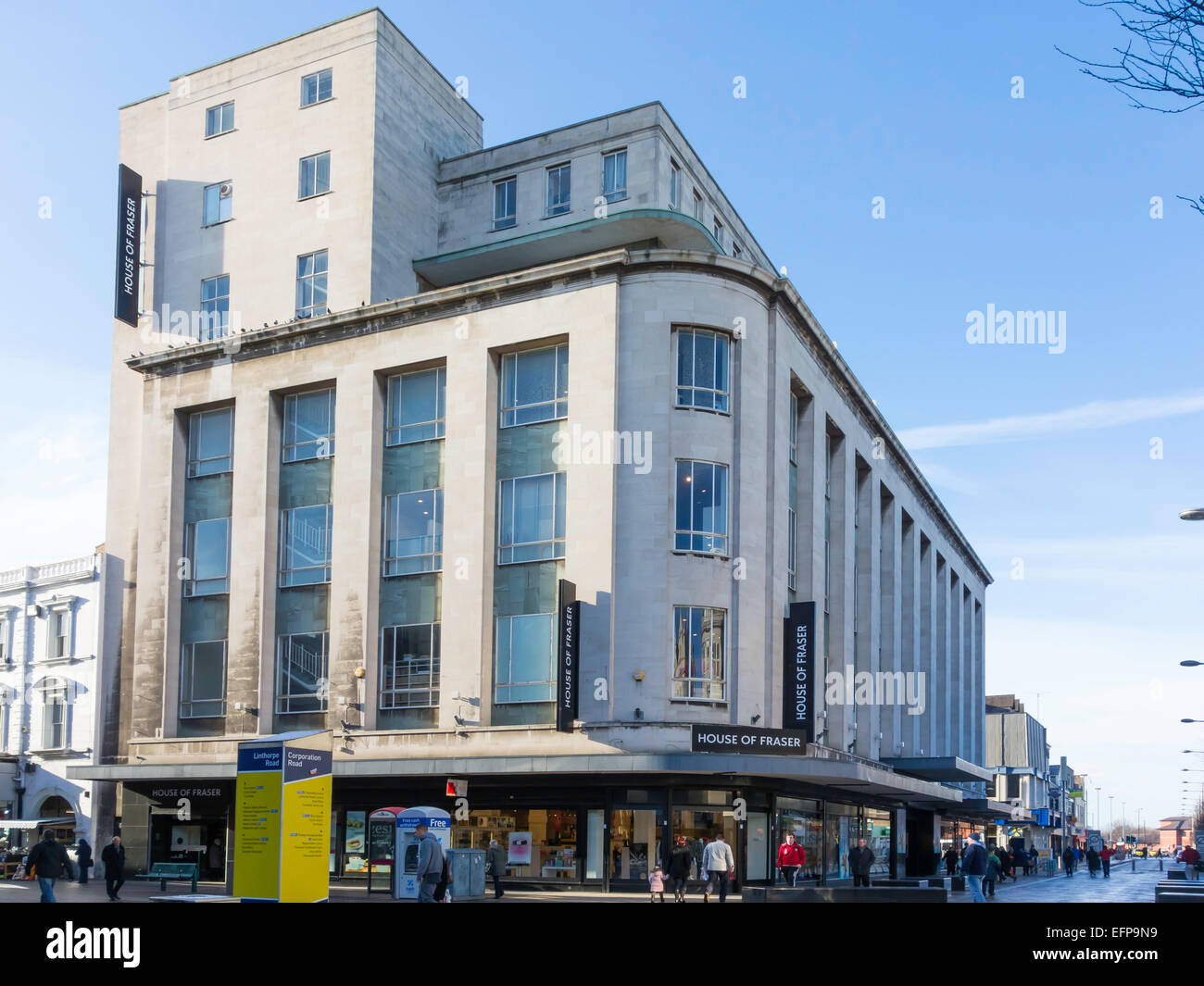 Art deco style architecture -  Binns Building Now House Of Fraser Store Built 1950 S Art Deco Style Architecture In Middlesbrough Cleveland