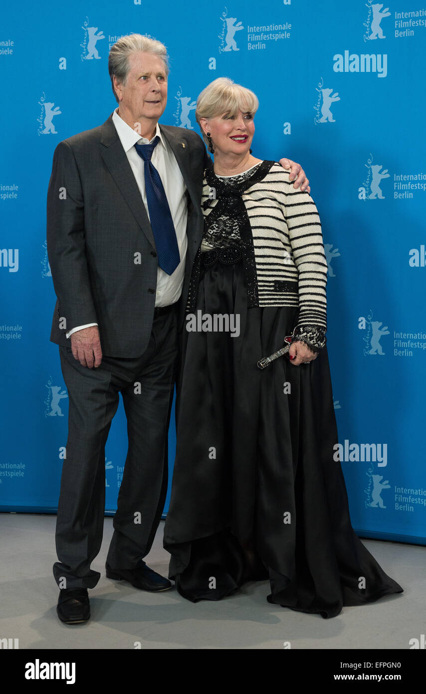 Musician Brian Wilson Beach Boys And Wife Melinda Ledbetter Attends The Photocall Of Love Mercy During 65th International Berlin Film Festival