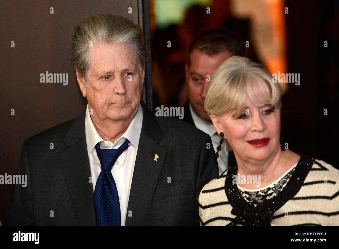 Brian Wilson Beach Boys And His Wife Melinda Ledbetter During The Love Mercy Photocall At 65th Berlin International Film