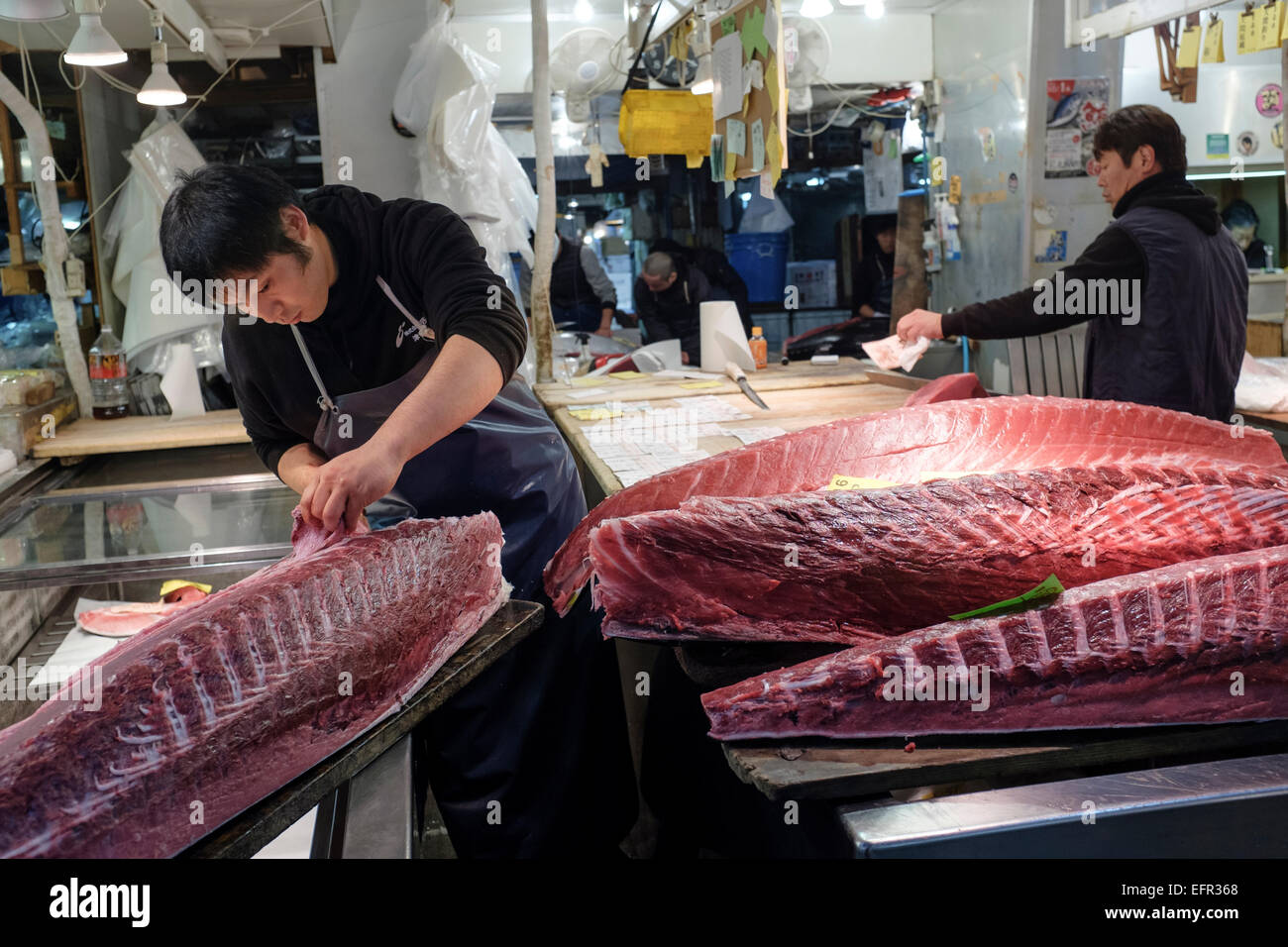 Stock Photo The Tsukiji Fish Market Tokyo Japan The Largest Wholesale Fish And Seafood Market In The World The Market Handles More Than 400 Types Of
