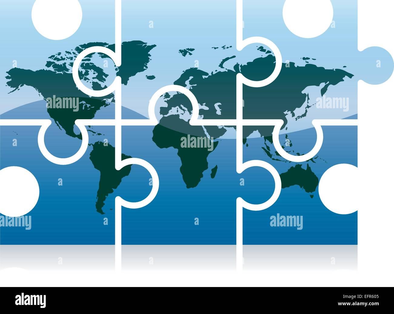 Shiny jigsaw world map puzzle icon vector illustration stock shiny jigsaw world map puzzle icon vector illustration gumiabroncs Choice Image