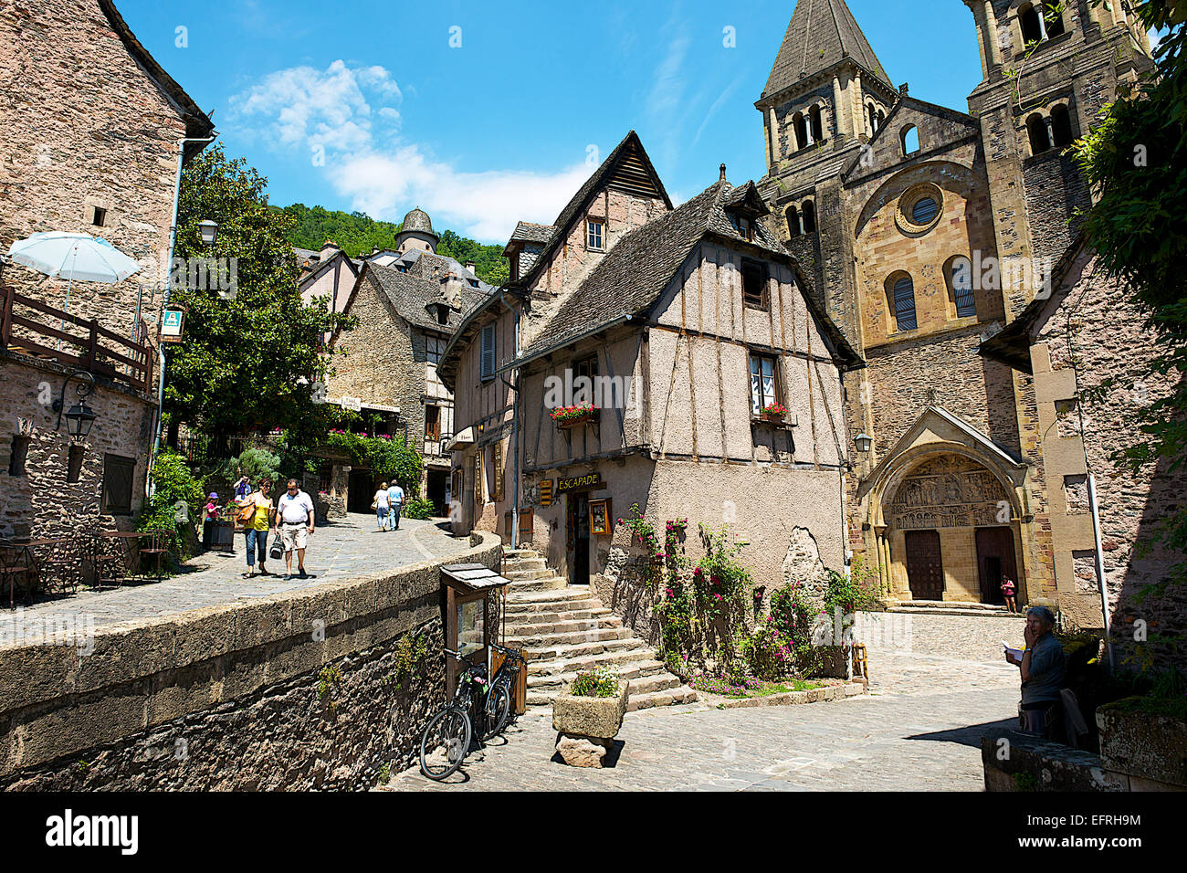 3d Dashboard Conques Village France Stock Photo 78579808 Alamy