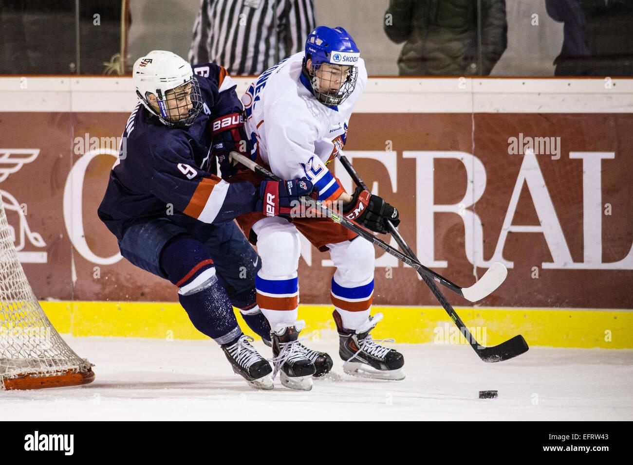 Kravare Czech Republic  city photo : Luke Kunin, Filip Hronek, Ice Hockey, Czech Republic, Usa, Five Stock ...