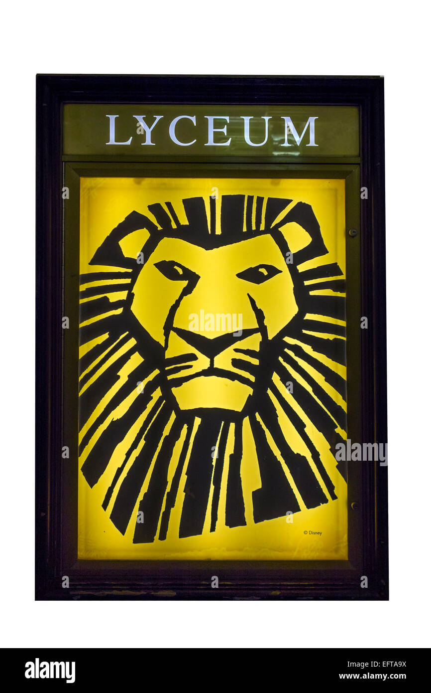 the lion king poster lyceum theatre london england stock