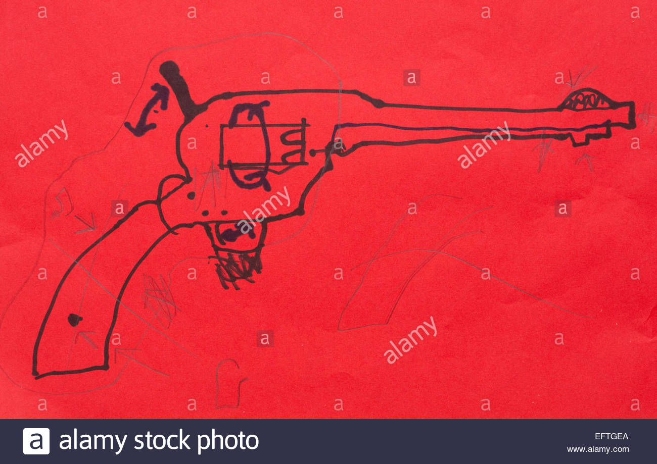 stock photo designing drawing paper gun design art artist artwork artwork artist art creativity childs childrens kid kids toy nobody single