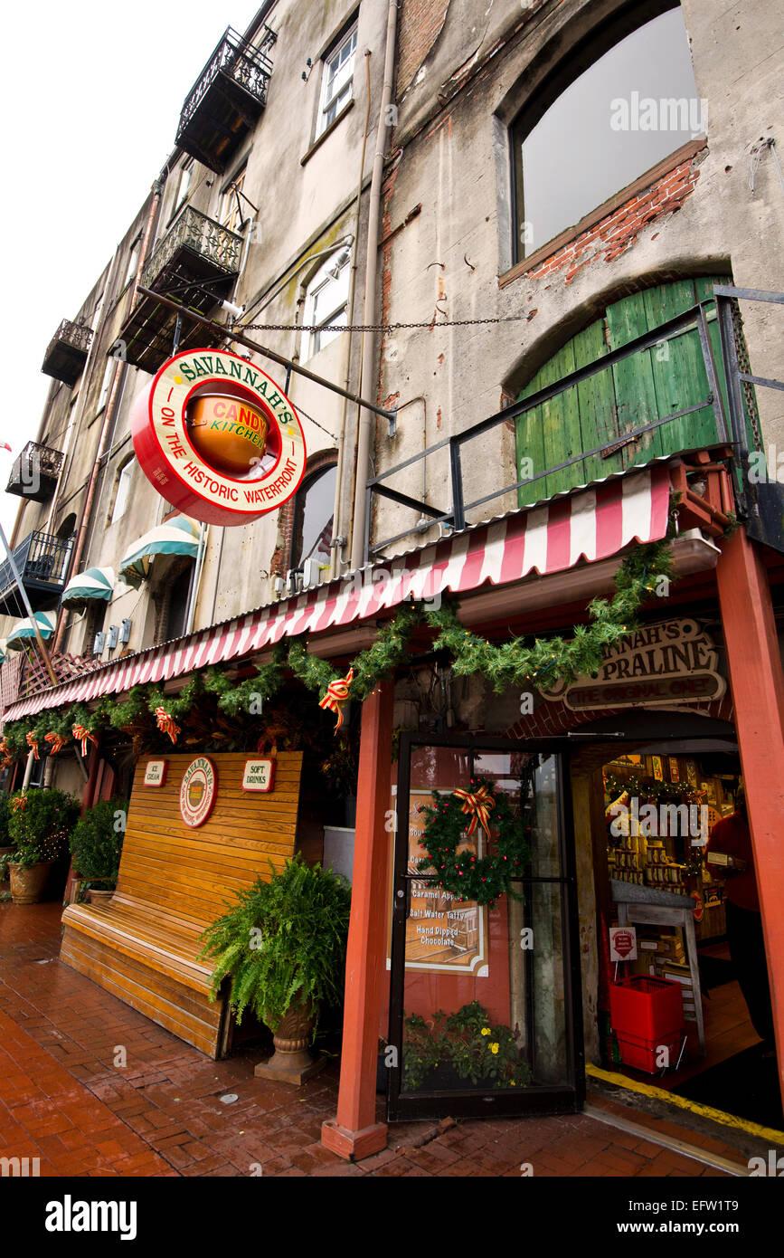 Savannah\'s Candy Kitchen, River Street, downtown Savannah Georgia ...