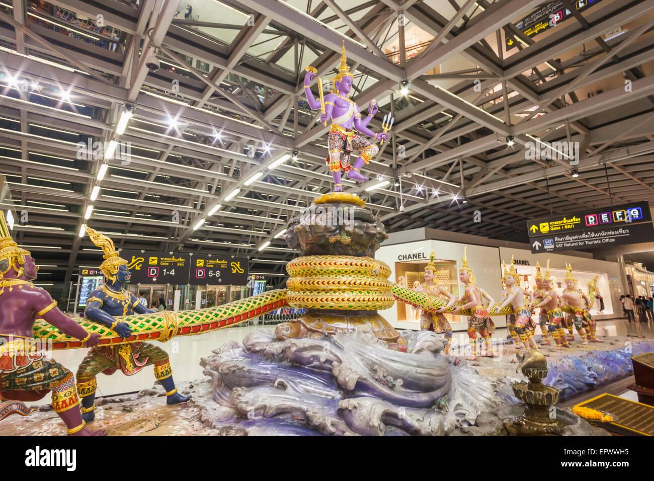 Thailand Bangkok Suvarnabhumi Airport Departure Area Concourse