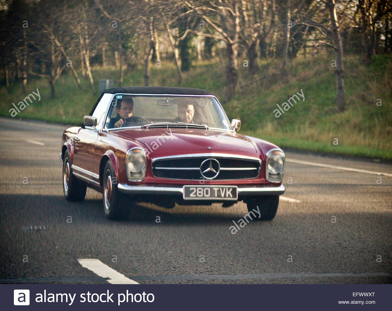 General Street Scene Old Mercedes Sports Car United Kingdom Great Britain  British UK Central London People Person Outdoor Exter