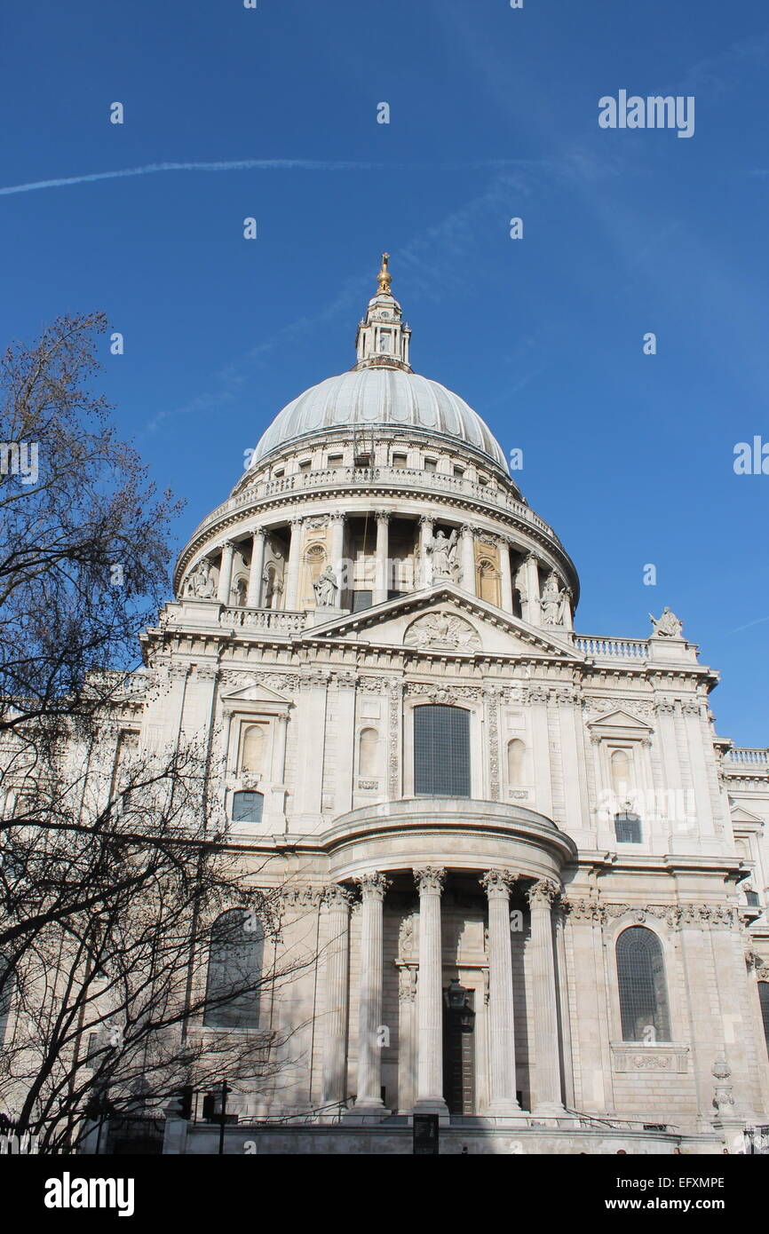 St Paul's Cathedral facade, London UK Stock Photo ...