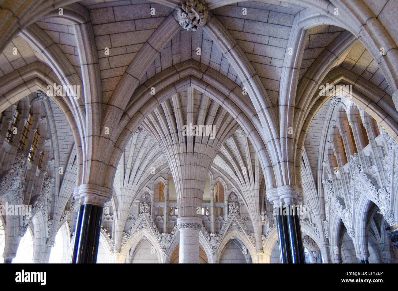Gothic Revival Interior the ornate gothic revival interior of the parliament of canada in
