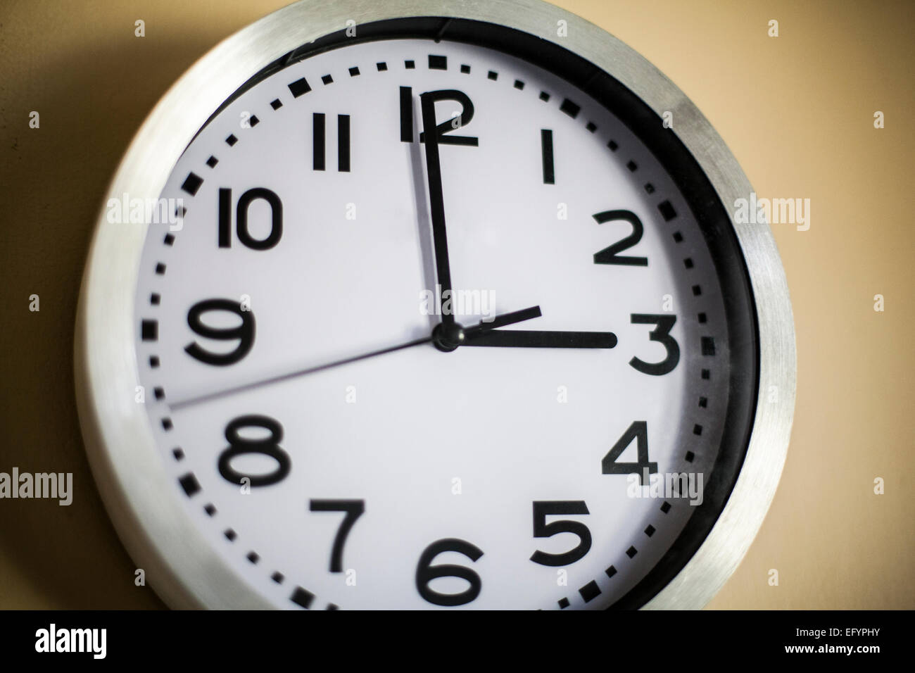 Clock on the wall showing the time of 3 oclock stock photo clock on the wall showing the time of 3 oclock amipublicfo Image collections