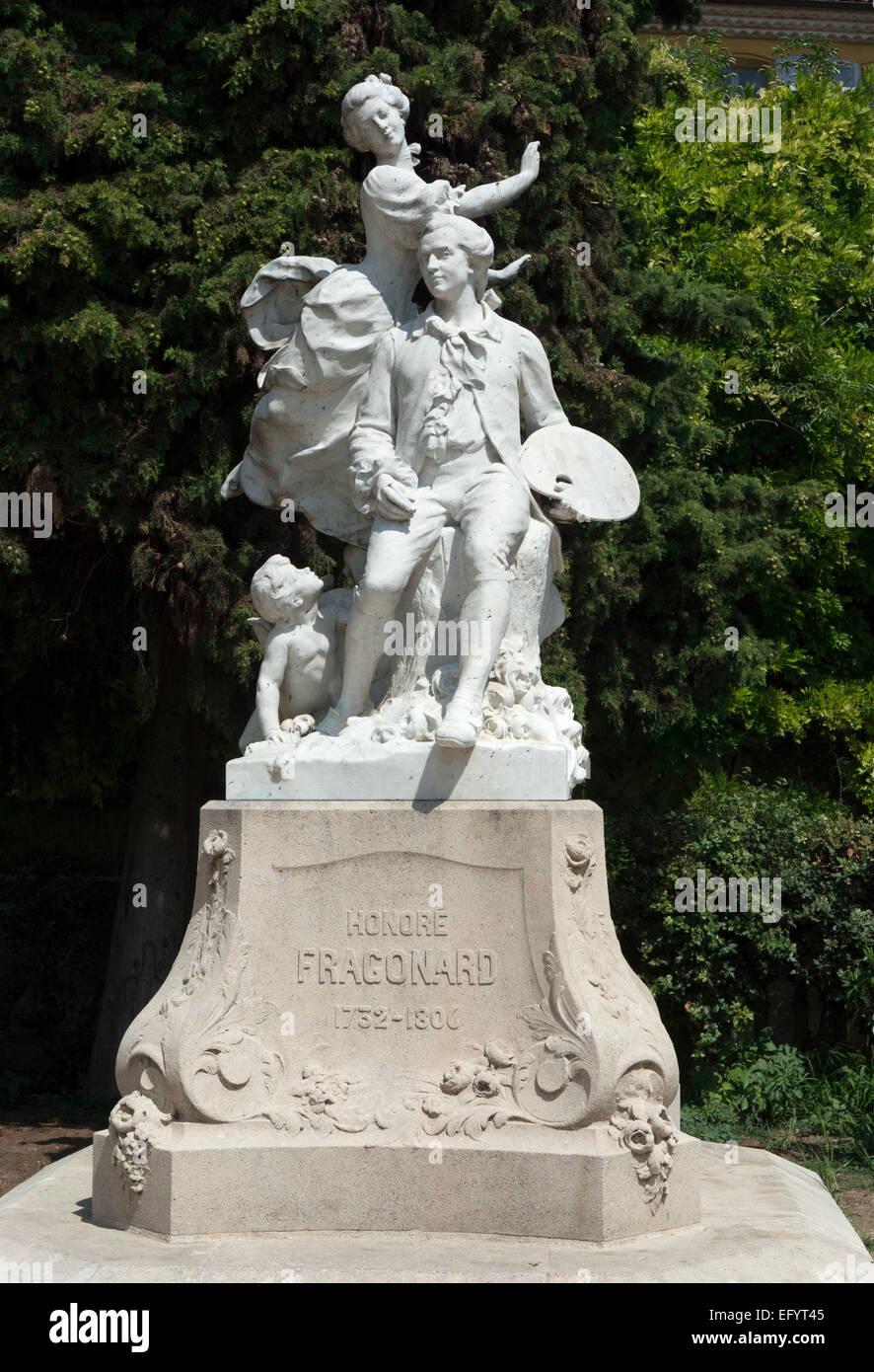 grasse southern france statue of honor fragonard stock. Black Bedroom Furniture Sets. Home Design Ideas