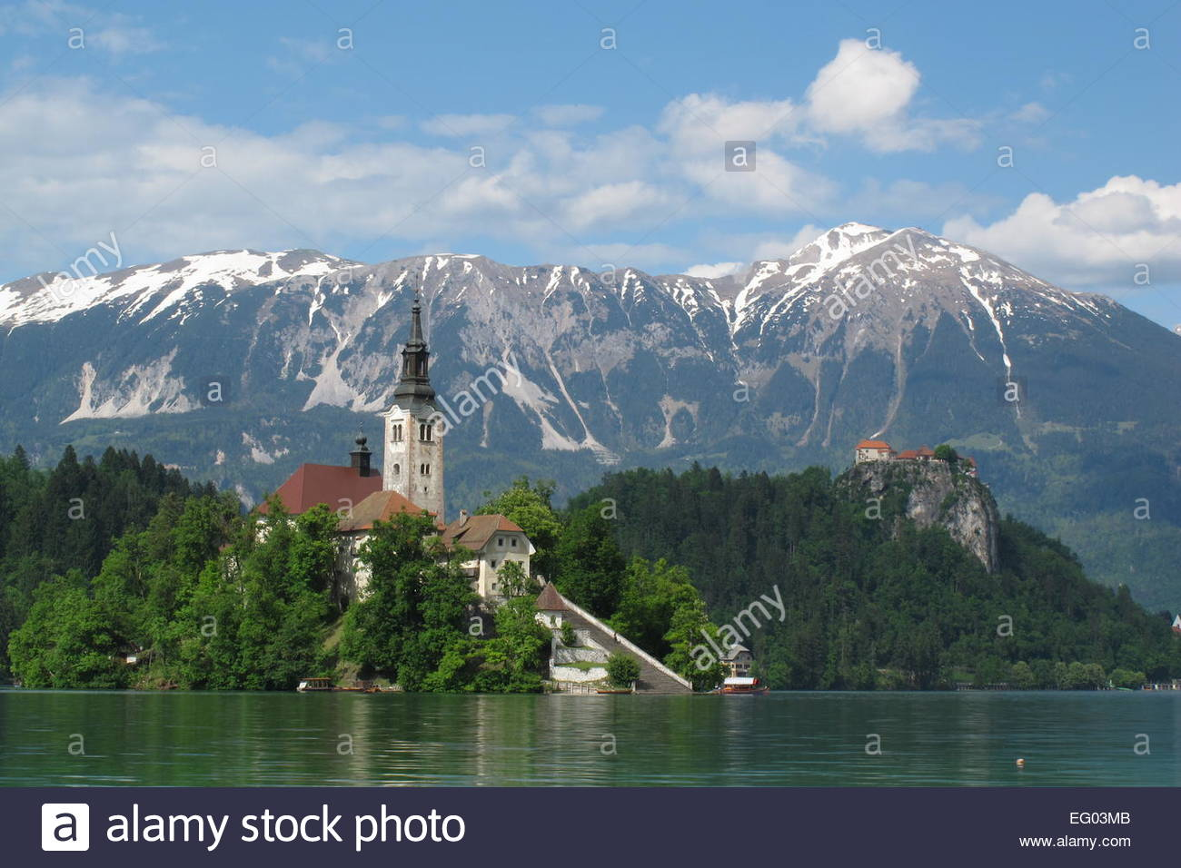 Pilgrimage Church of the Assumption of Maria, Bled, Slovenia - A...