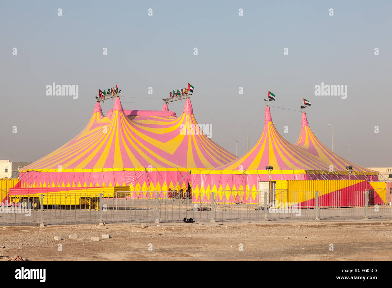 Circus tents in Abu Dhabi United Arab Emirates & Circus tents in Abu Dhabi United Arab Emirates Stock Photo ...