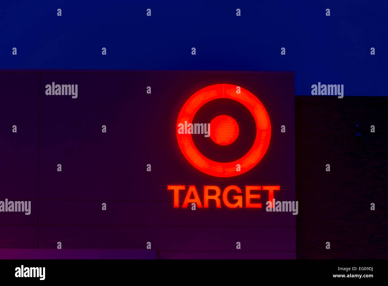 Us chain store target store symbol sign at night stock photo us chain store target store symbol sign at night buycottarizona Image collections