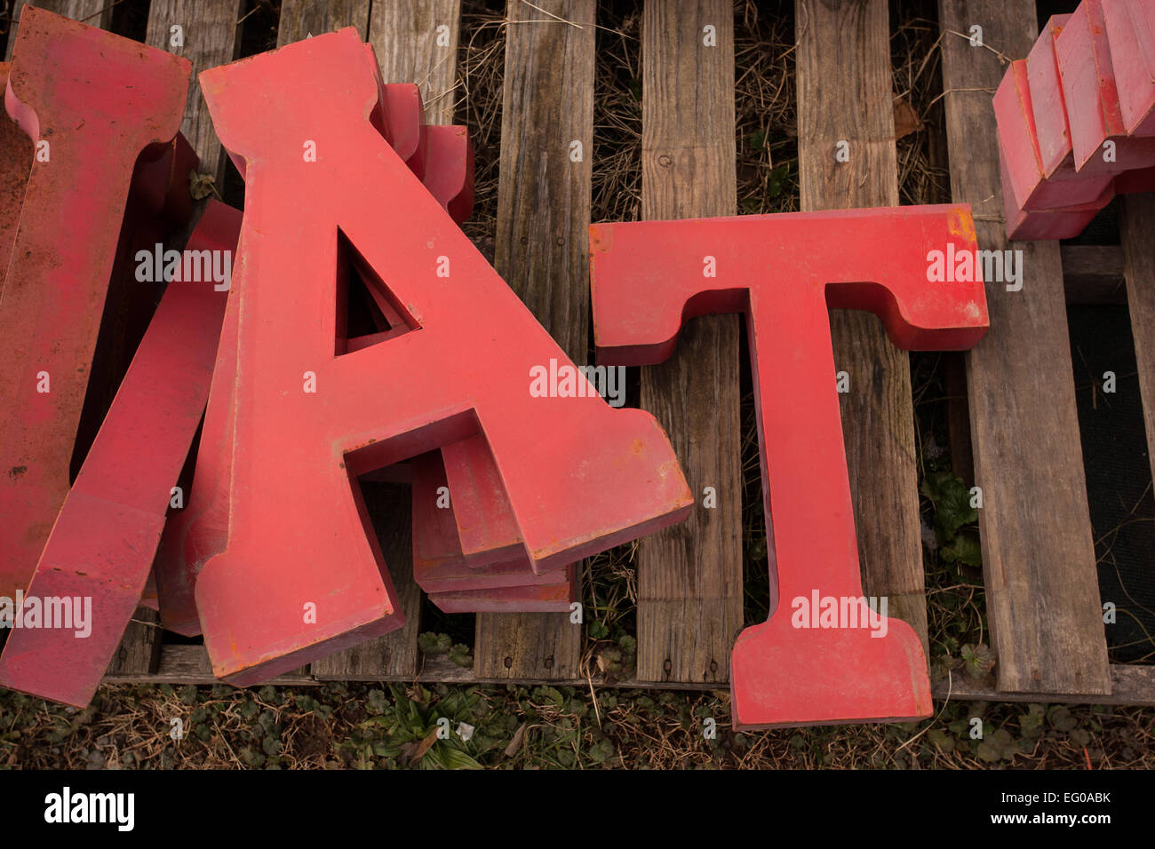 "Metal Sign Letters For Sale Threedimensional Metal Sign Letters Spelling ""at"" For Sale At"