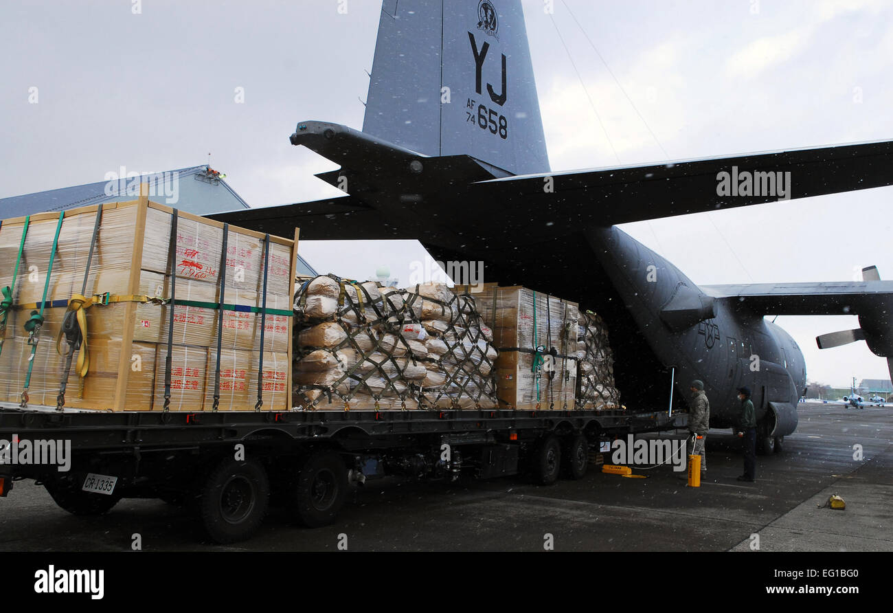 A U.S. Air Force C-130 Hercules cargo aircraft assigned to ...
