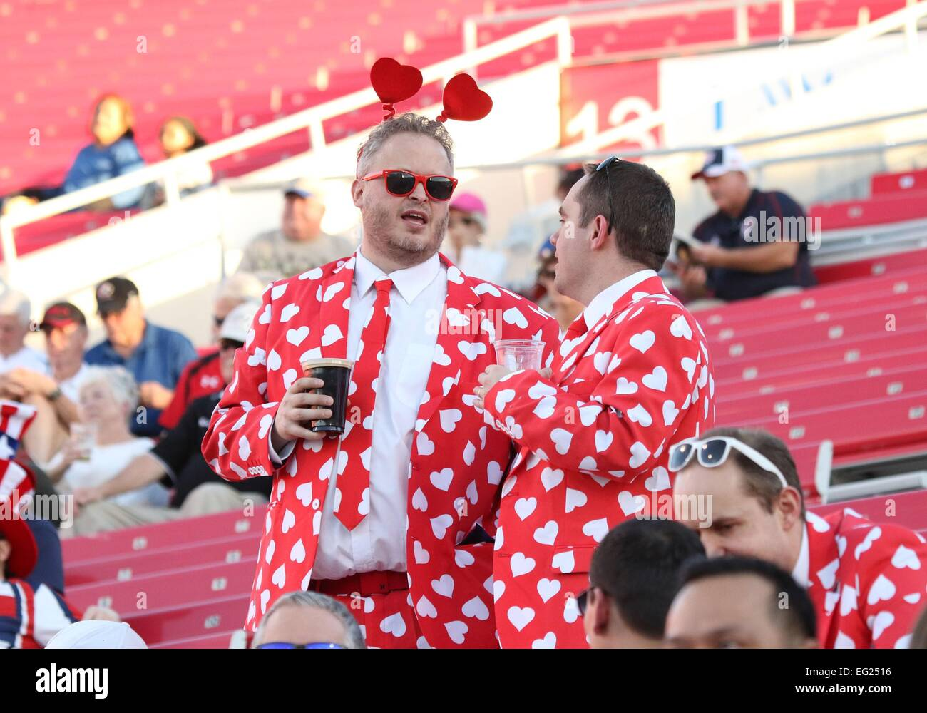 rugby fans dressed in valentines day costume in attendance for 2015 usa sevens international rugby tournament fri sam boyd stadium las vegas - Valentines Day Las Vegas