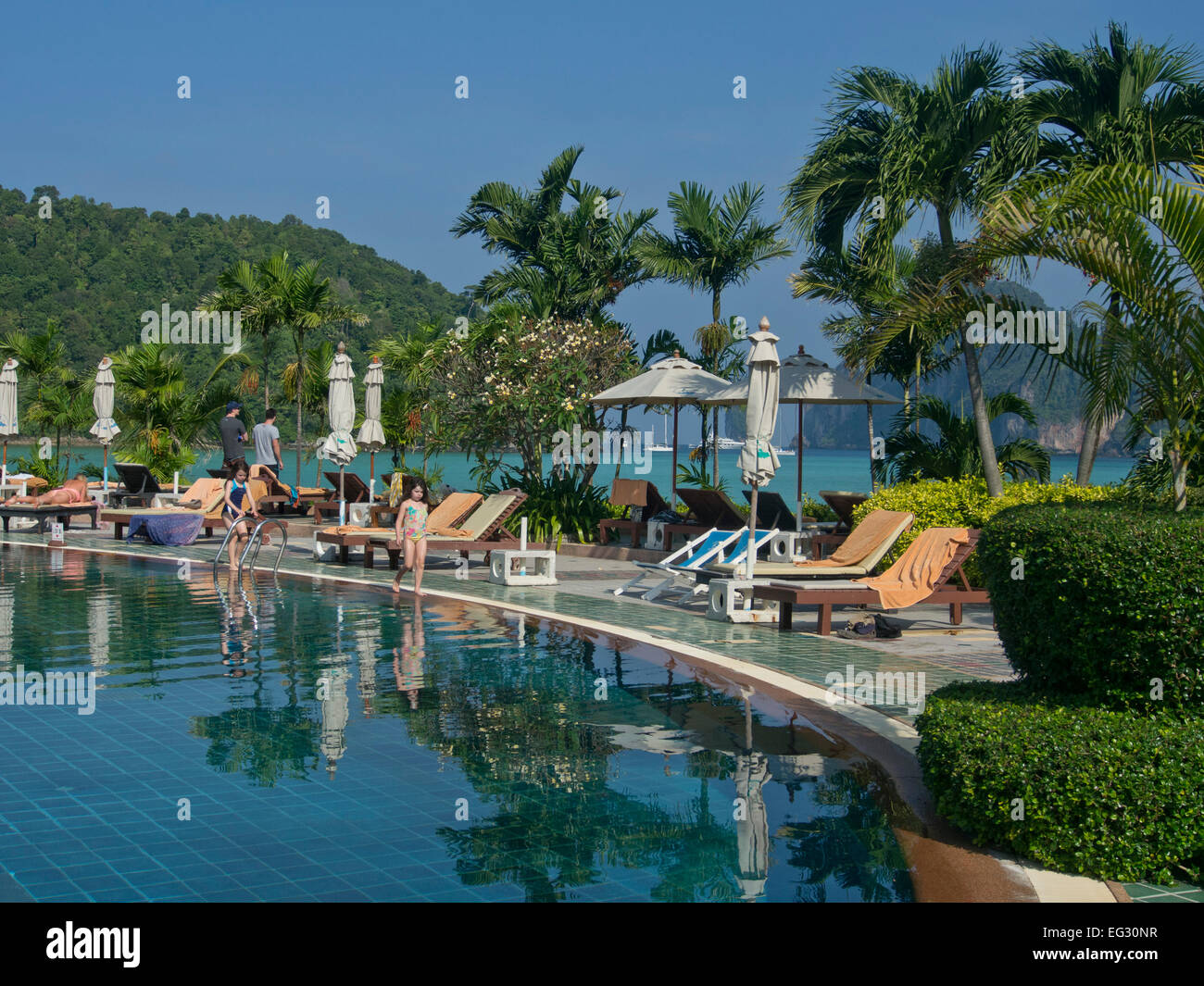 Luxury hotel on a beach at phi phi islands andaman sea thailand