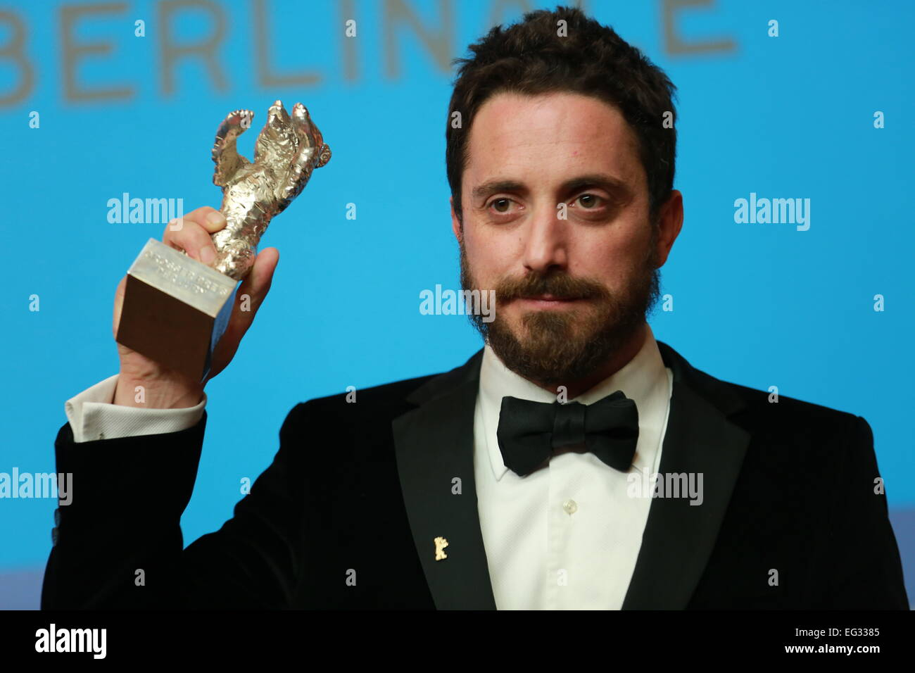 14th feb 2015 pablo larran with the silver bear in hand at the press conference at the hyatt hotel credit simone kuhlmeypacific pressalamy live news - Silver Hotel 2015