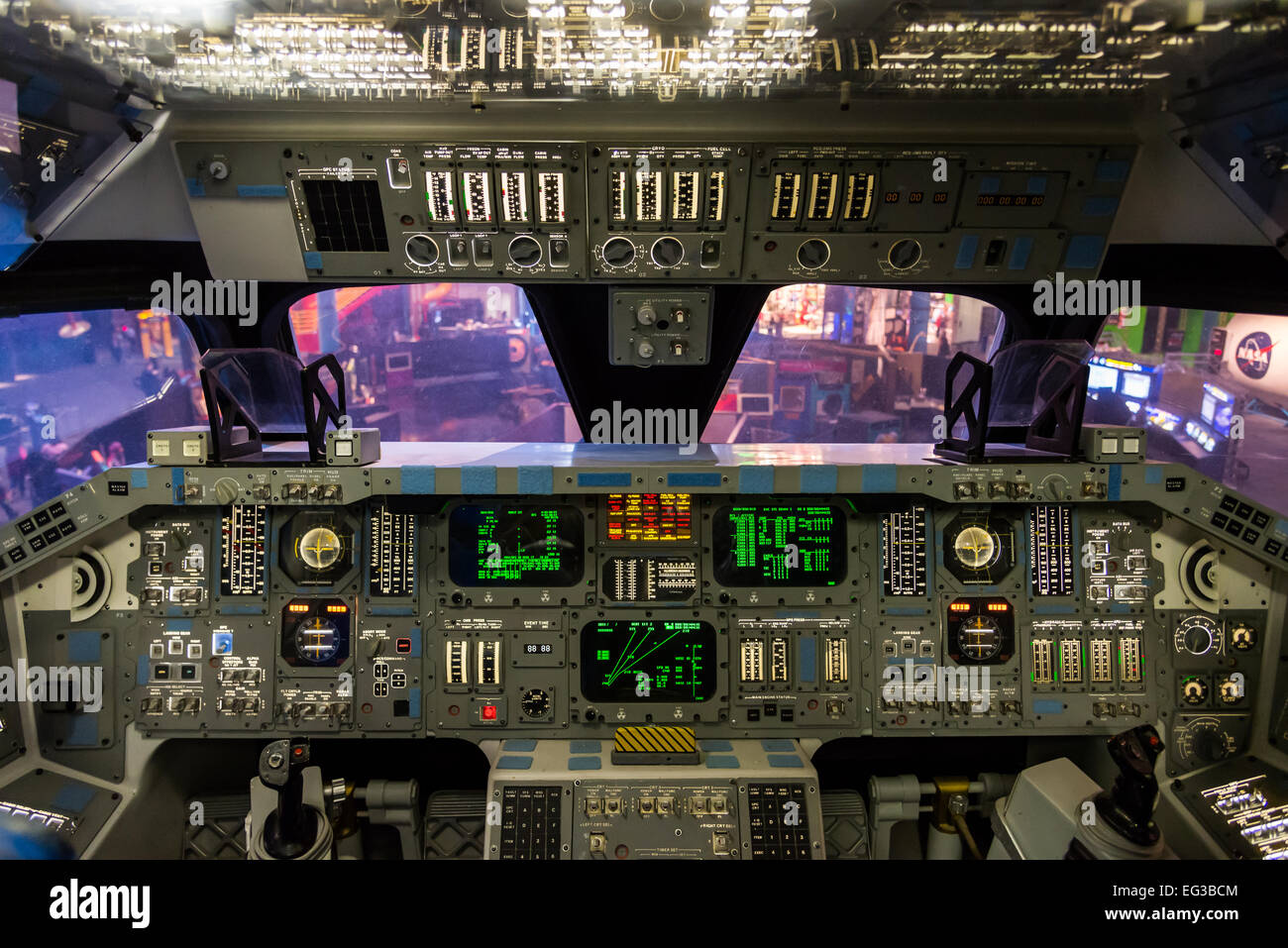 Instrument Penal Of The Mock-up Space Shuttle Flight Deck ...