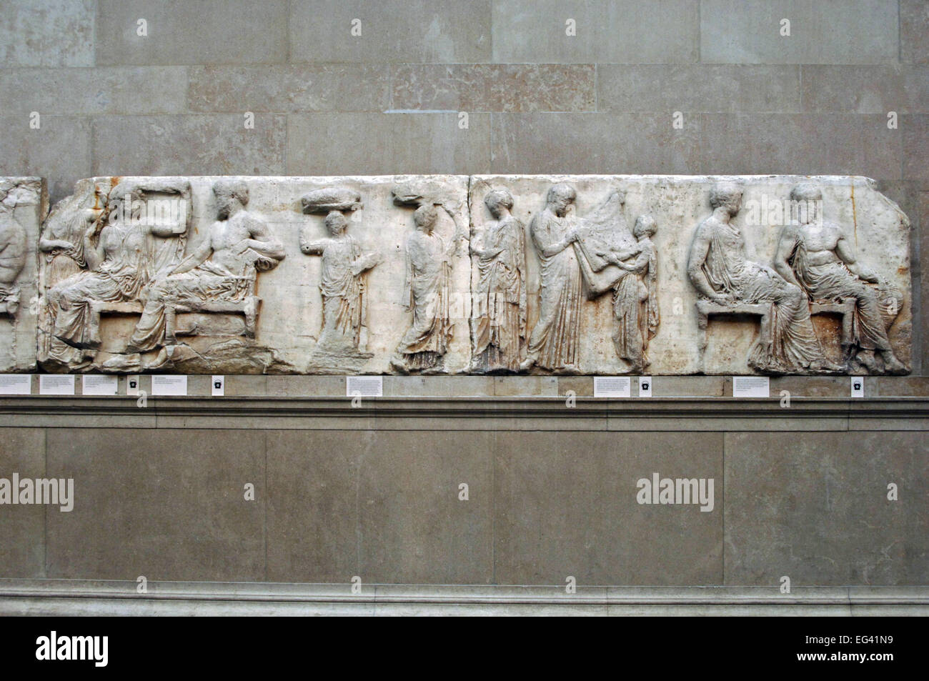 The Parthenon frieze. East side. 447-432BC. Greek ...