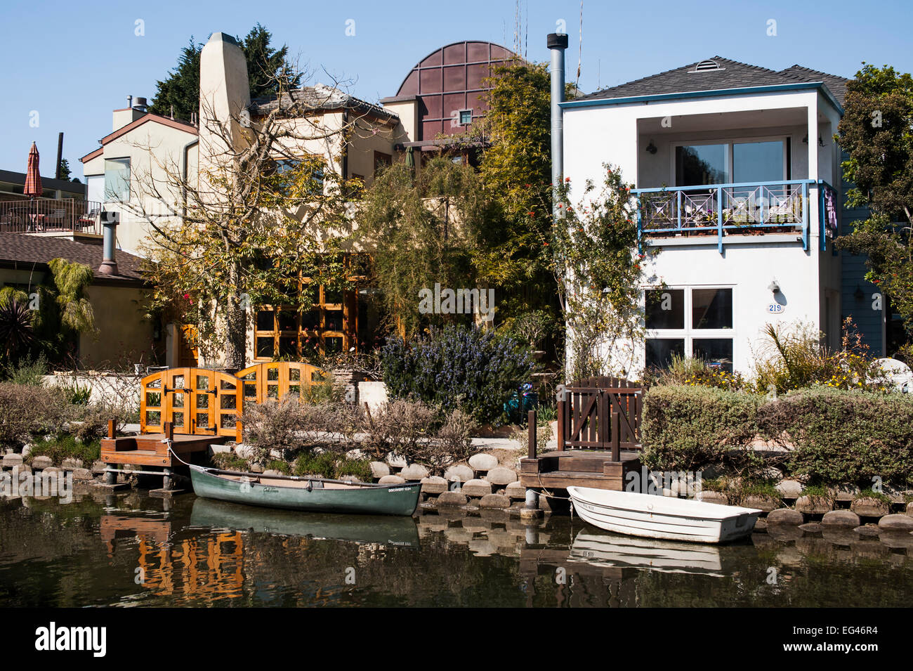 Venice canal historic district houses venice beach los for Historical homes in los angeles