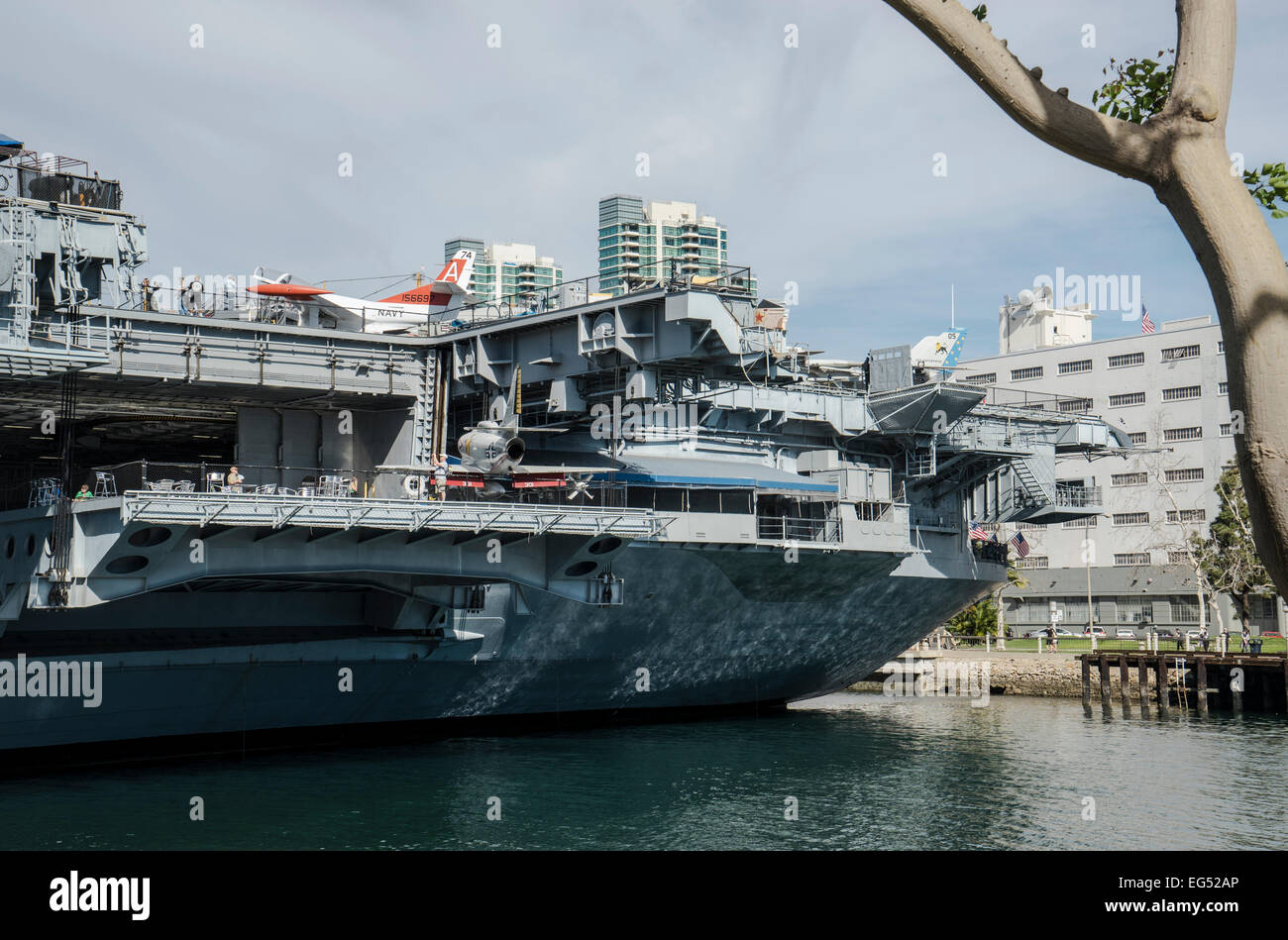 Stern of the USS Midway Aircraft Carrier museum in San ...