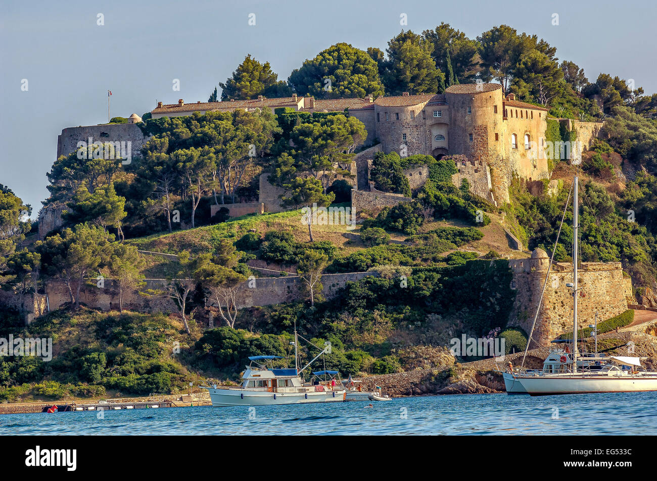 Fort de br gan on bormes les mimosas 83 stock photo - Office de tourisme de bormes les mimosas ...