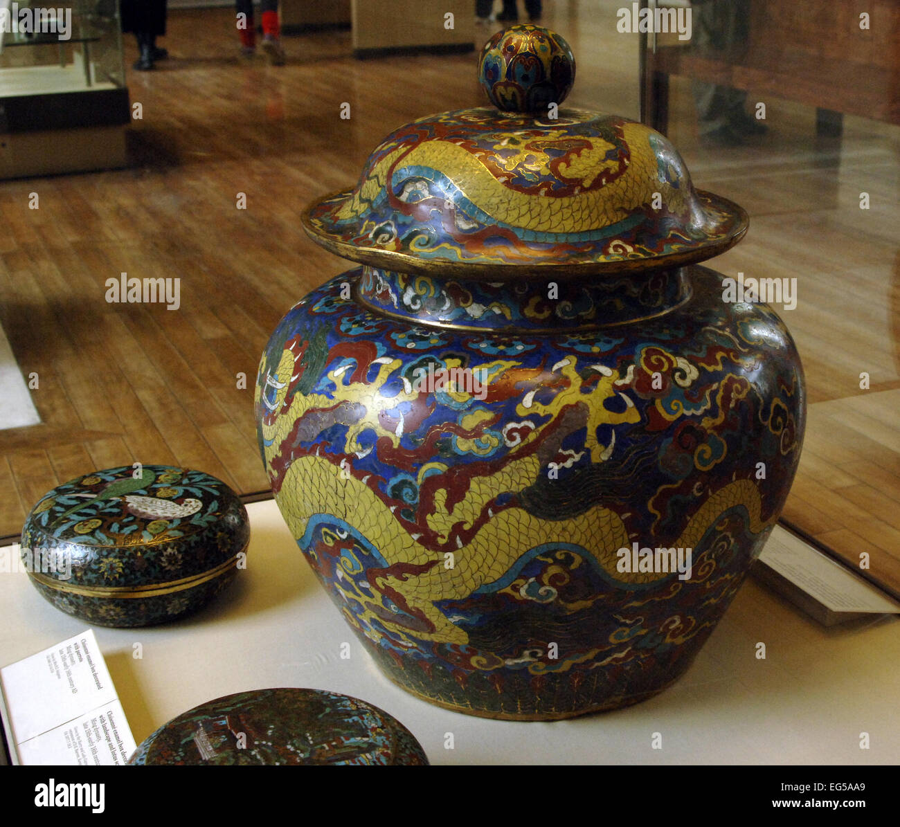 Asia china cloisonne jar ming dynasty xuande period 1426 35 cloisonne jar ming dynasty xuande period 1426 35 ad boldy decorated jar with imperial mark british museum london england united kingdom reviewsmspy