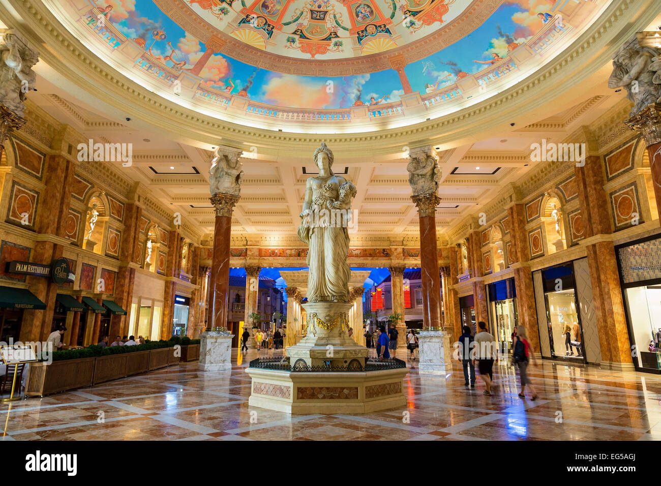 Las vegas caesars palace shopping mall stock photo for Arts and crafts stores in las vegas