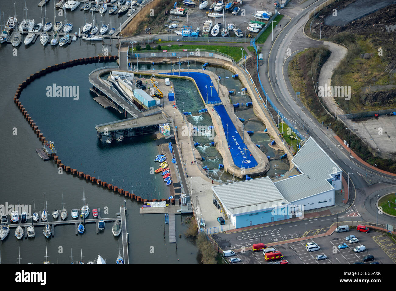 An Aerial View Of Cardiff International White Water A White Water Stock Photo Royalty Free