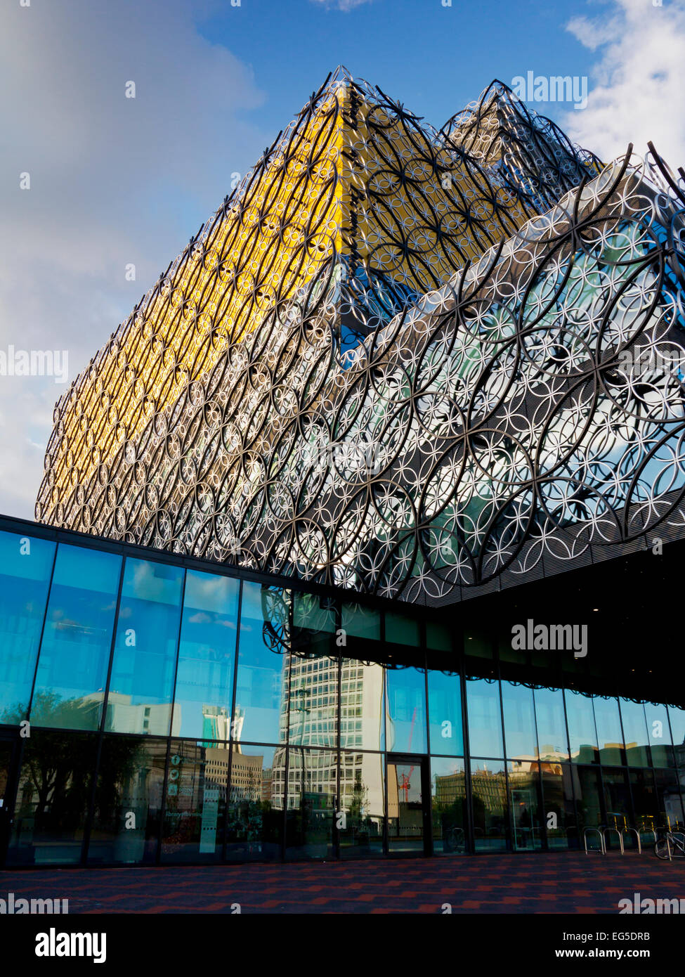 Exterior West Midlands Exterior of The Library of Birmingham West Midlands England UK opened 2013 designed by Francine Houben