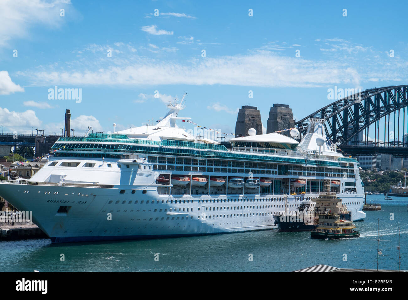 Rhapsody Of The Seas Cruise Ship Liner In Sydneys Circular Stock - Pictures of rhapsody of the seas cruise ship