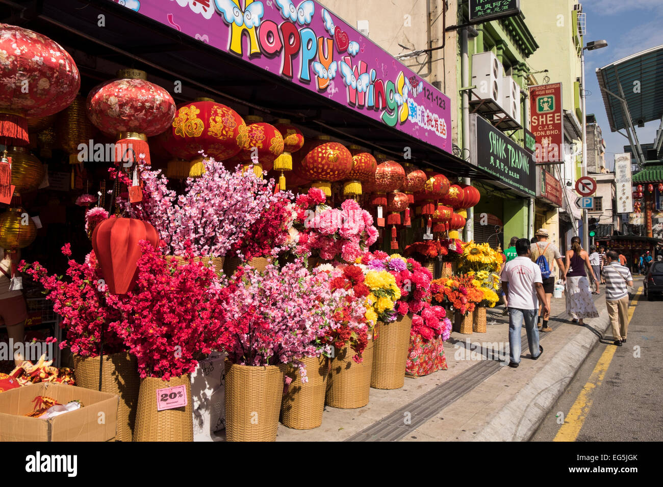Chinese new year decorations for sale in chinatown kuala for Chinese decorations