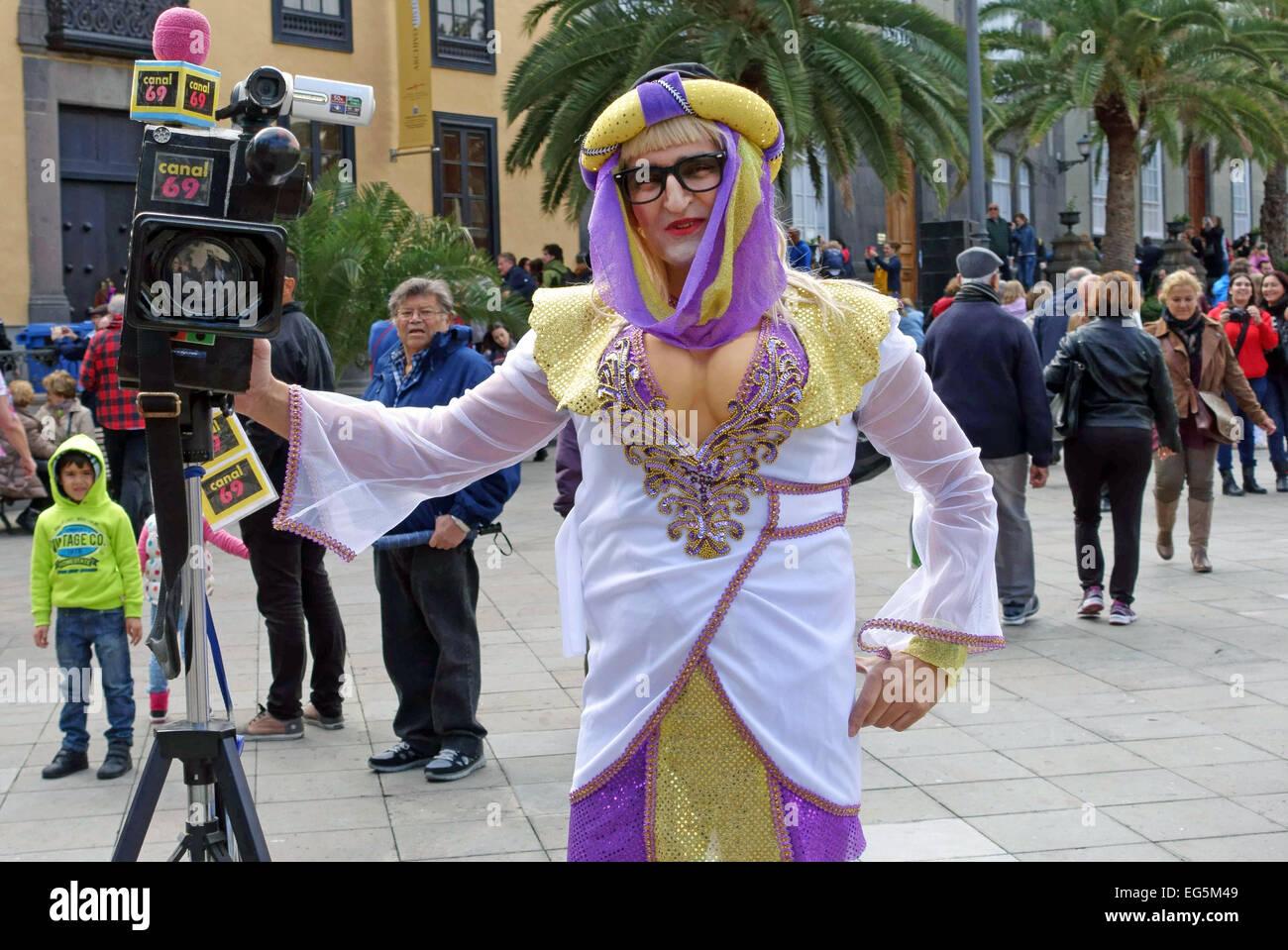 Transvestite fake tv cameraman at carnival las palmas de gran stock photo royalty free image - Gran canaria tv com ...