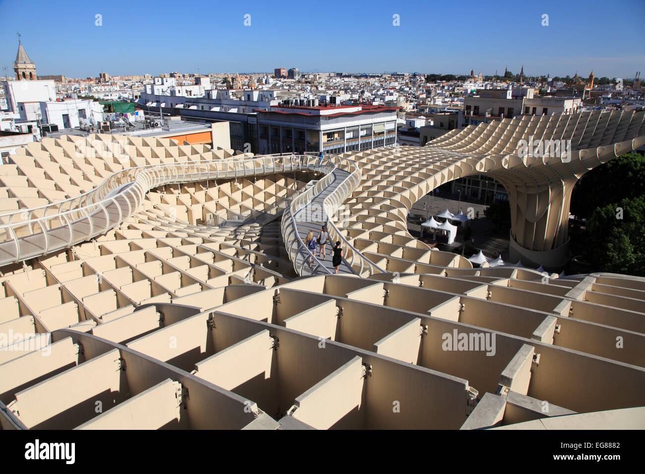 Metropol parasol the world s largest wooden structure - Spain Andalusia Seville Metropol Parasol Wooden Structure J Rgen Mayer Hermann Architect