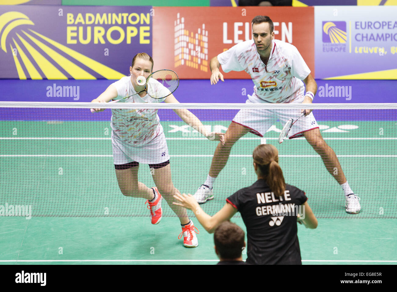 LEUVEN BELGIUM 14 02 2015 Badminton players Christinna Pedersen