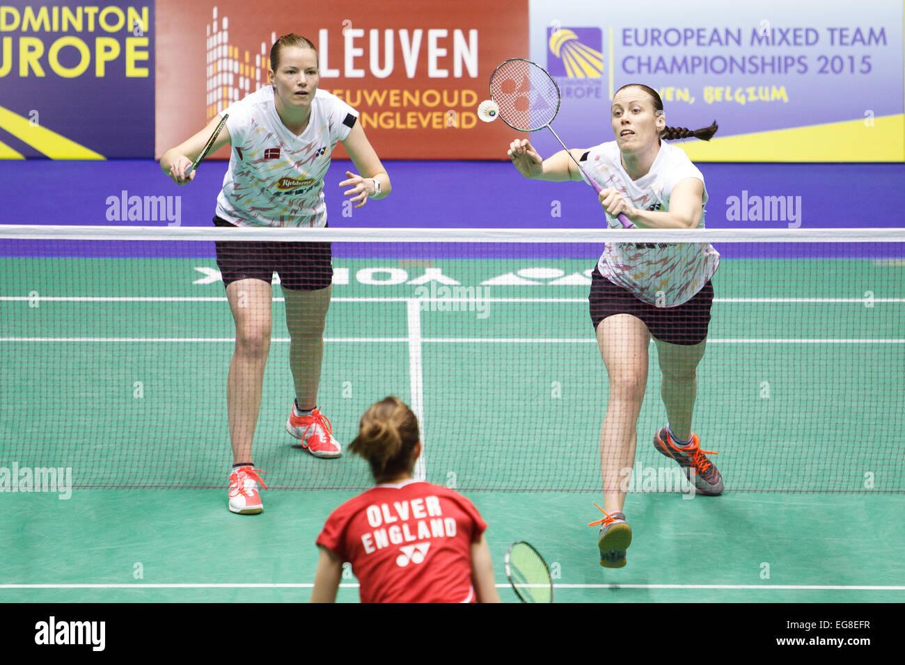 LEUVEN BELGIUM 15 02 2015 Badminton players Christinna Pedersen
