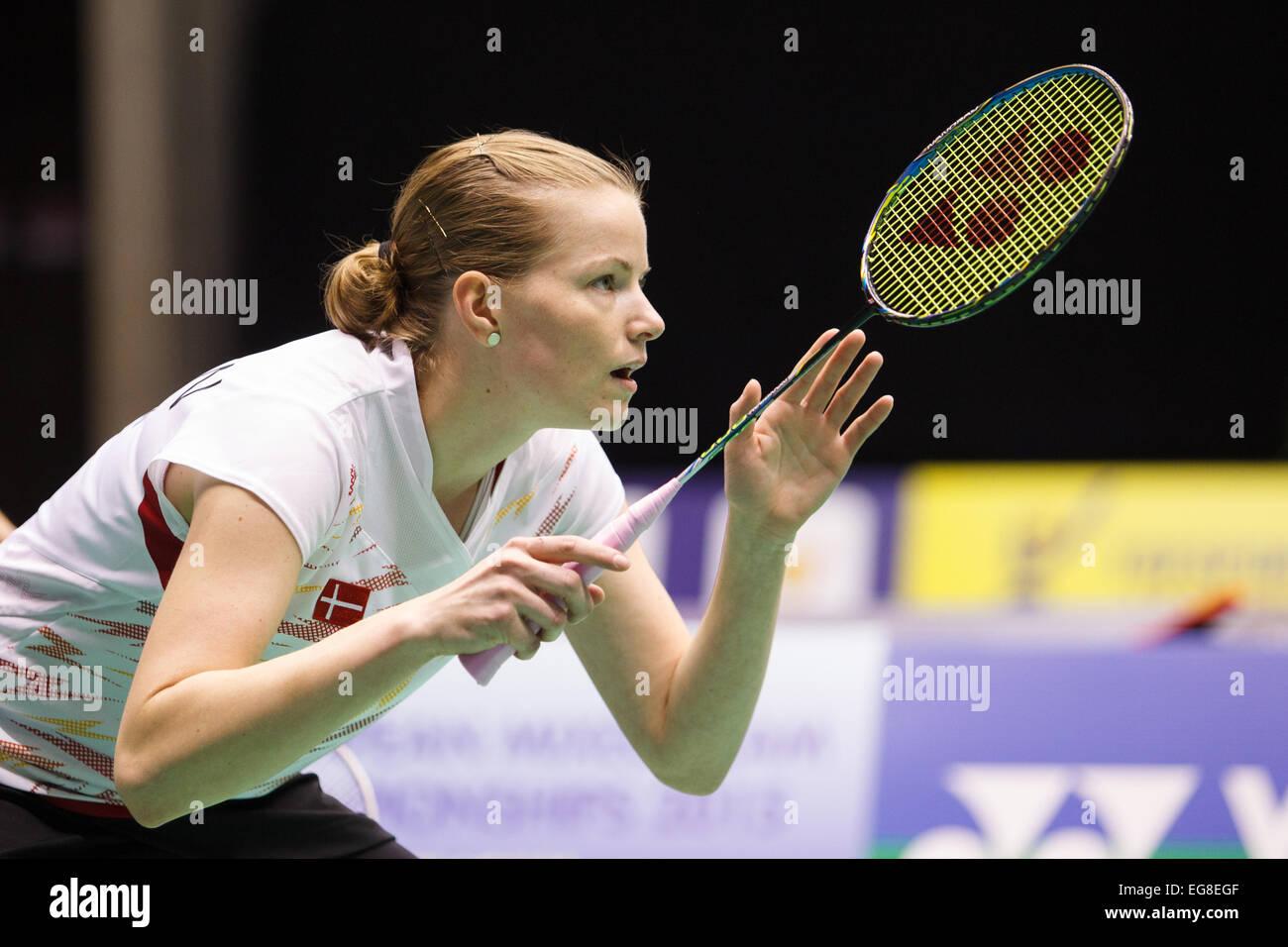 LEUVEN BELGIUM 13 02 2015 Badminton players Christinna Pedersen