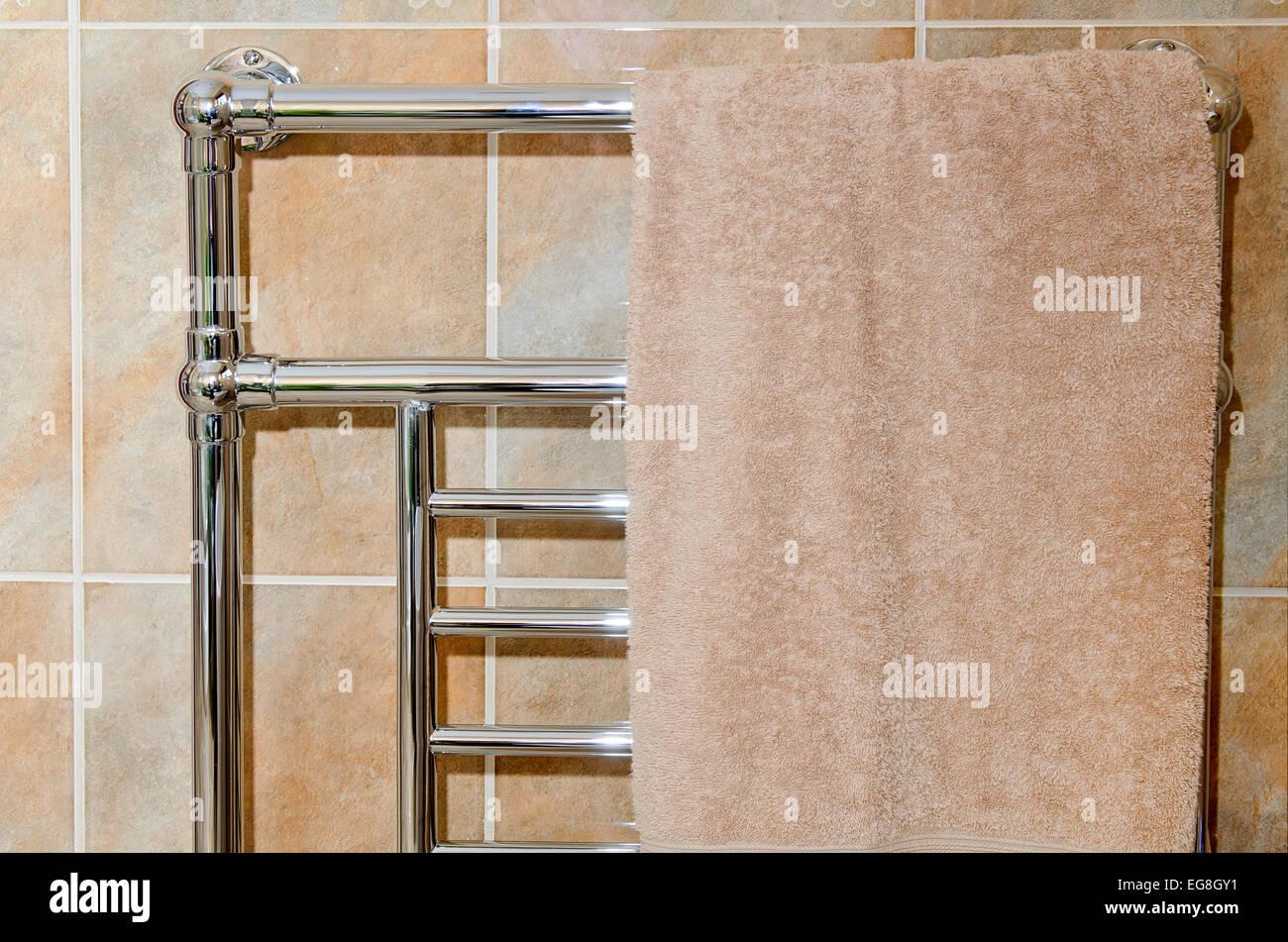 Chrome Bathroom Towel Radiators: Chrome Bathroom Towel Rail / Radiator Stock Photo, Royalty