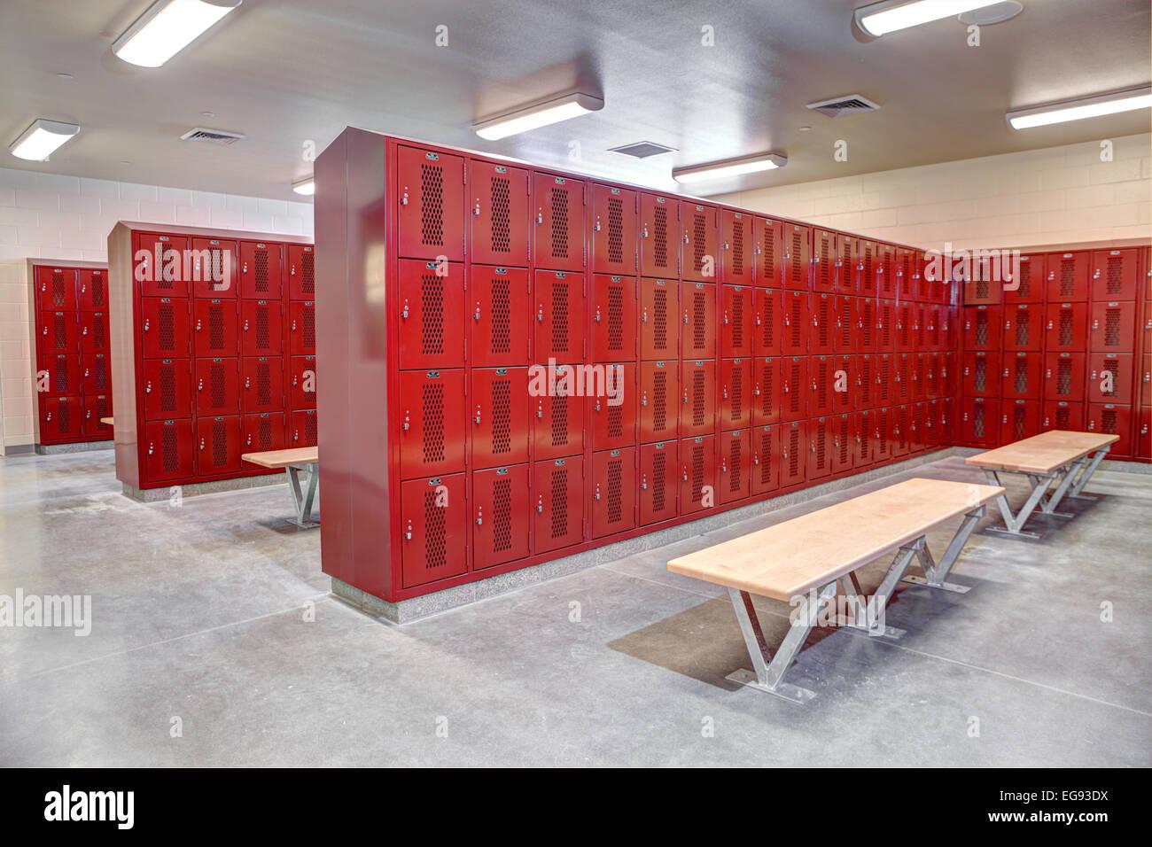 The interior of a High School locker room Stock Photo, Royalty ...